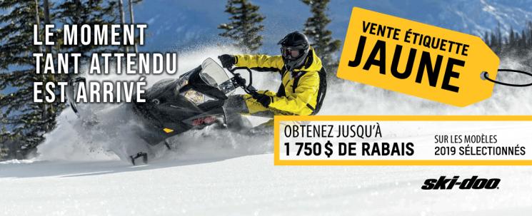 Vente Étiquette jaune Ski-Doo