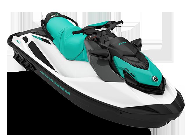 Can-Am GTI 130 blanc/bleu-corail 2022