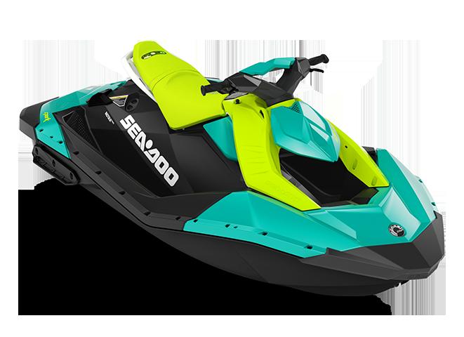 Can-Am SPARK 2 up bleu-corail/vert-mante 2022