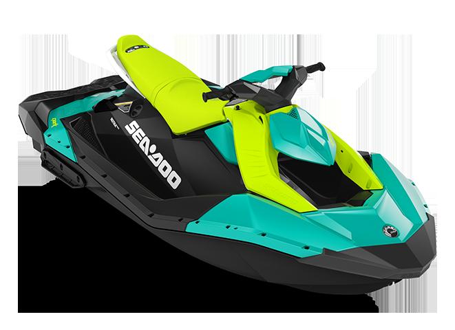 Can-Am SPARK 3 up bleu-corail/vert-mante 2022